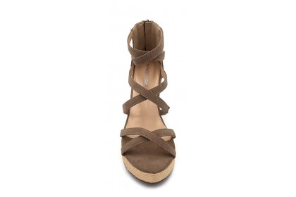 Women Comfortable Rome Peep Toe 7.5CM Back Zipper Shoes