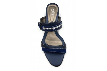 Women Classical Double Strap Slitter 3.5CM Slip On Shoes