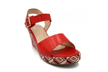 Women Decorous Ankle Strap On Sandals 7.5CM Sandal