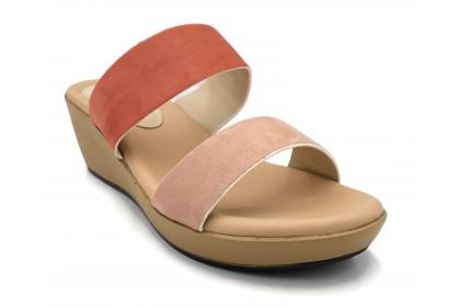 Women Double Strap Slip On 6.2CM Slip On Shoes