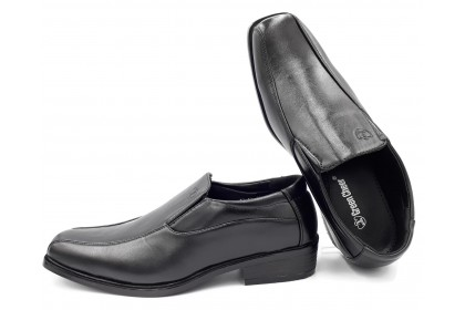 Men Formal Black Dress Shoes Square Toe Slip On