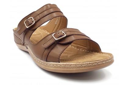 Big Feet Comfortable Side Stitching Slipper 4.0CM Slightly Adjustable Both Upper Strap