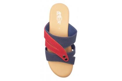 Women Comfortable Ankle Strap 5.0CM Slip On Shoe