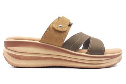Women Wedges Round Toe Pumps 5.0CM Slip On Shoe