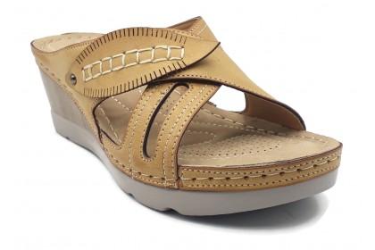Women Durable Cross 6CM Side Stitching Sandals Shoes