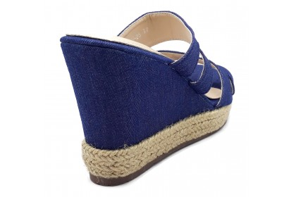 Women Temperament Non-Regulated Double Strap Sandals 8.5CM Slip On