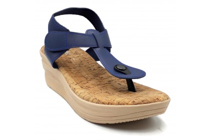 Women Durable Peep Toe Flat Platform Velcro Shoes